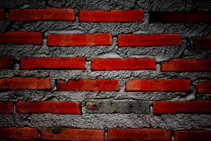 Vinylová Tapeta Povrch tmavě cihlové zdi. - Pozadí