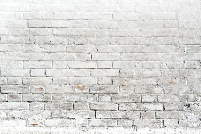 Carta da parati bianco muro di mattoni per lo sfondo o for Carta da parati muro mattoni