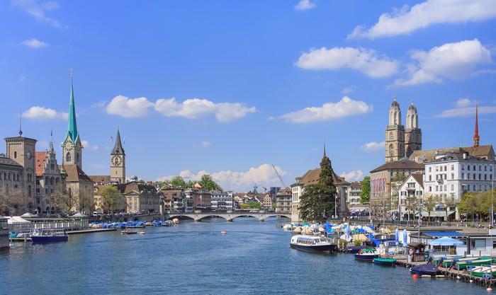 Zurich cityscape Vinyl Wallpaper - Urban