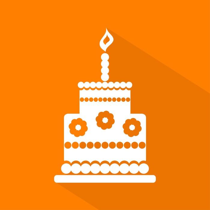 Birthday Cake Icon Vector Poster Pixers We Live To Change