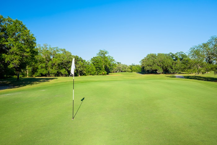 Vinylová Tapeta Golfing - Individuální sporty