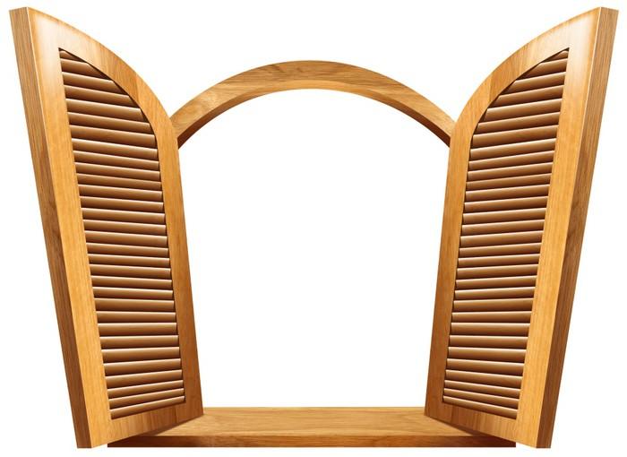Vinylová Tapeta Dřevěné Otevřené okno -