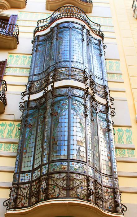 Vinylová Tapeta Balkony v starém domě, Barcelona, Španělsko - Evropská města