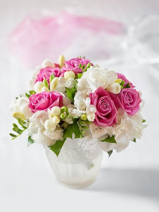 Beautiful Wedding Bouquet In Vase Wall Mural Pixers We Live To
