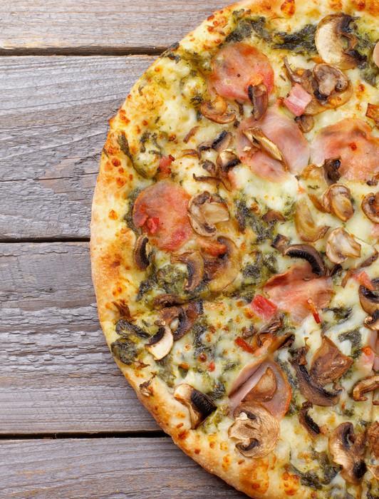 Fototapete Pilze Pizza