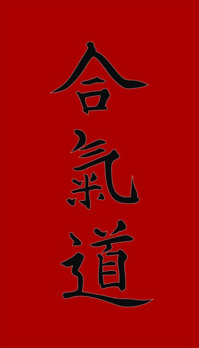 Nálepka Pixerstick Aikido - Extrémní sporty