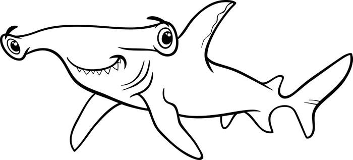 Vinilo Pixerstick Martillo libro de colorear de tiburón • Pixers ...