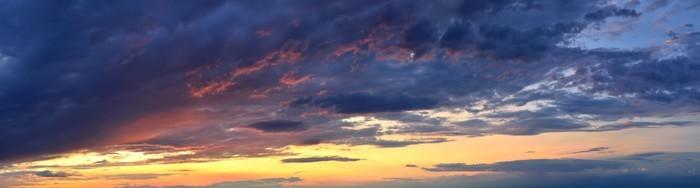 Vinylová Tapeta Nádherné barvy na obloze při západu slunce - Nebe