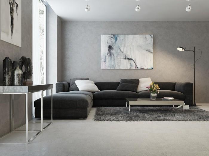 Fotobehang Moderne interieur van woonkamer • Pixers® - We leven om ...