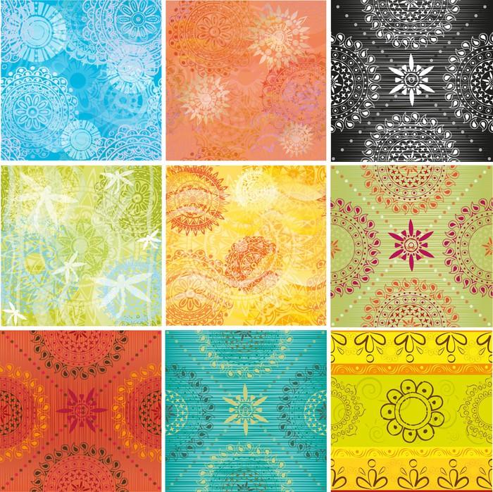 papier peint grand jeu de textures avec des motifs indiens pixers nous vivons pour changer. Black Bedroom Furniture Sets. Home Design Ideas