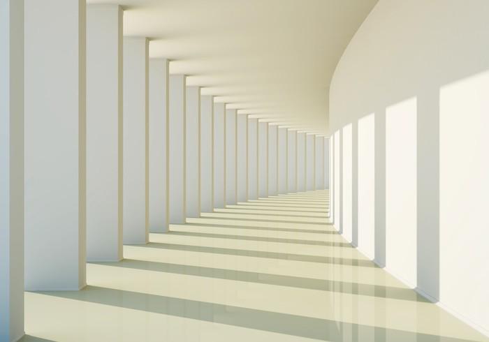 Carta da parati 3d corridoio astratto pixers viviamo for Parati in 3d