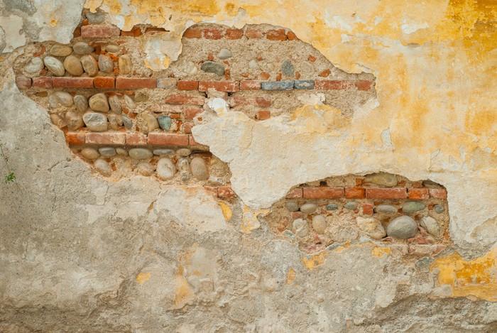 Carta da parati muro vecchio con pietre e mattoni for Carta da parati muro mattoni