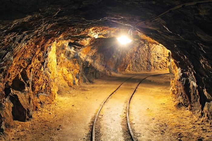 Underground Mine Tunnel Mining Industry Wall Mural
