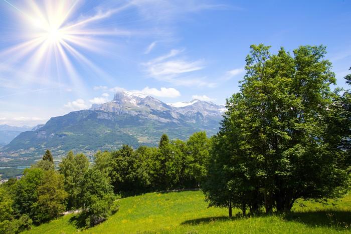 Vinyltapete Berge - Land