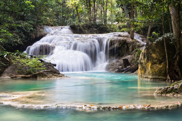 Vinylová Tapeta Erawan Water pád v Thajsku - Asie