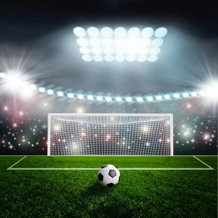Vinylová Tapeta Fotbalový míč na zelené stadionu aréně - Úspěch