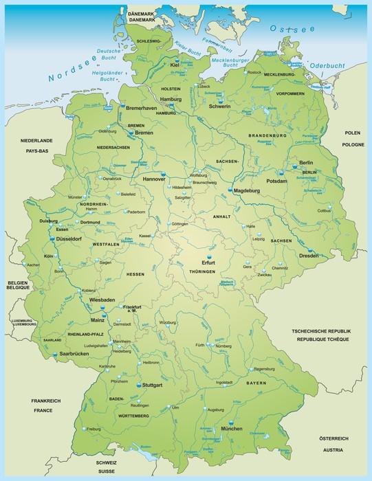 karta över tyskland Dekor Karta över Tyskland • Pixers®   Vi lever för förändring karta över tyskland