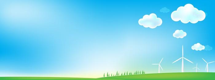 Vinylová Tapeta Nebe a trávy větrný mlýn pozadí - Pozadí