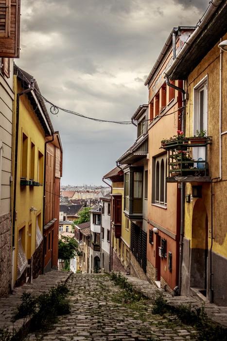 Vinylová Tapeta Starověké ulice v Budapešti - Evropa
