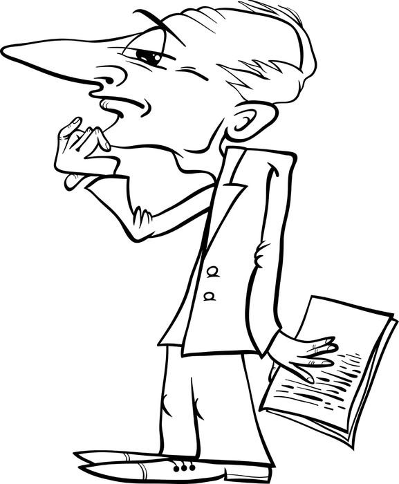 Fototapete Denkenden Menschen Cartoon Malvorlagen • Pixers® - Wir ...