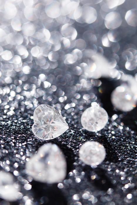 Vinylová Tapeta Diamanty na černém pozadí - Móda