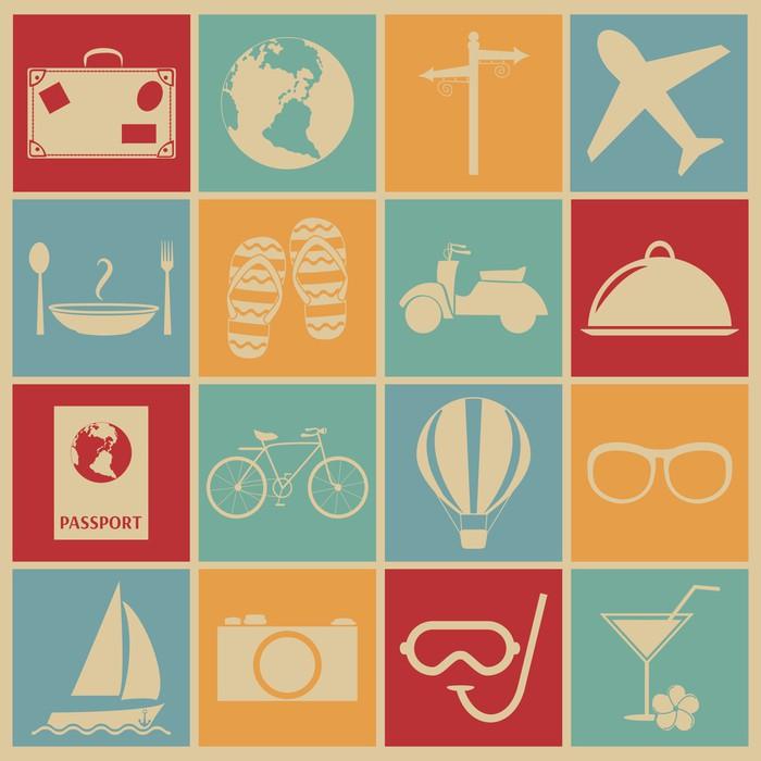 Papier peint voyage icone o pixersr nous vivons pour changer for Kitchen cabinets lowes with papiers pour passeport