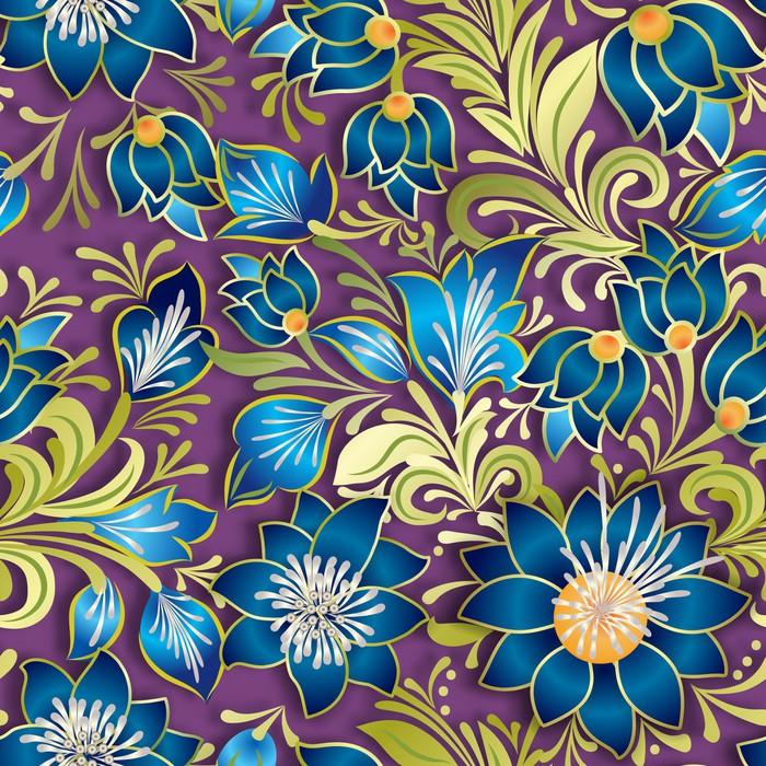 Vinylová Tapeta Abstraktní vintage bezešvé květinový ornament - Pozadí