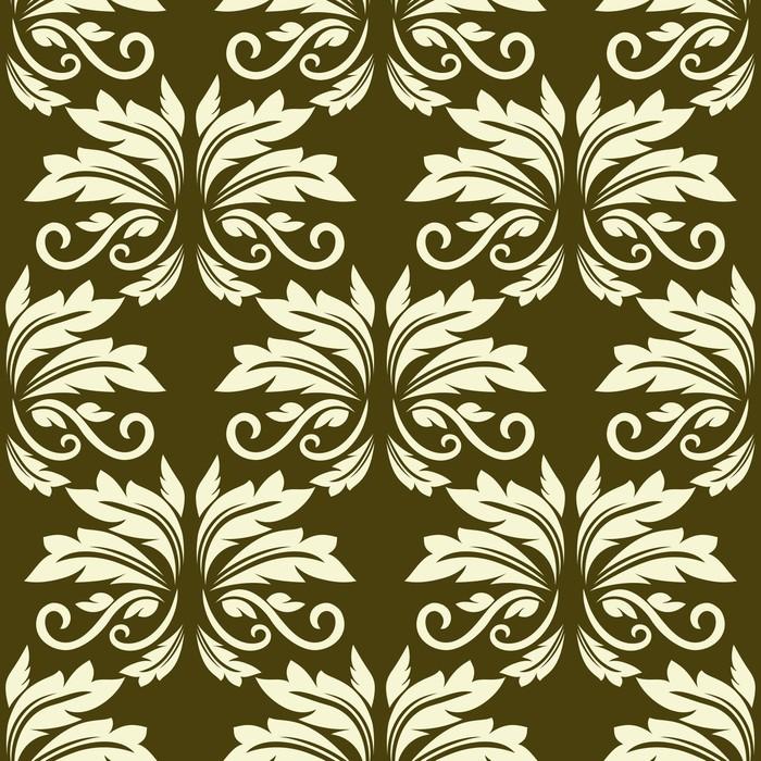 Vinylová Tapeta Floral seamless pattern arabeska - Pozadí