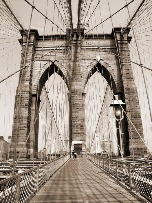 Tableau sur toile le pont de brooklyn pixers nous - Toile pont de brooklyn ...