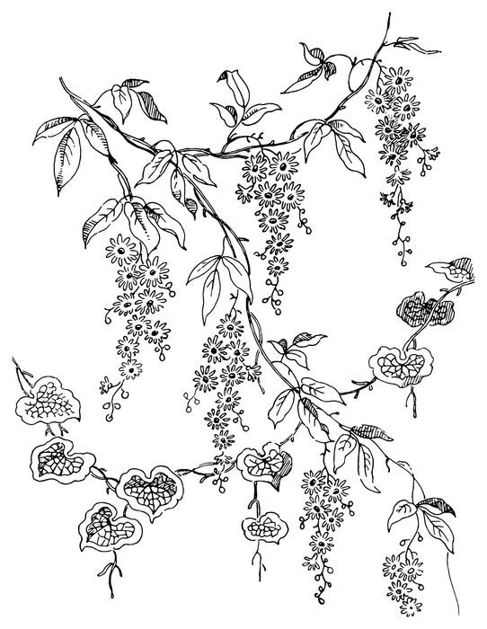 Vinylová Tapeta Paisley květinový vzor - Abstraktní