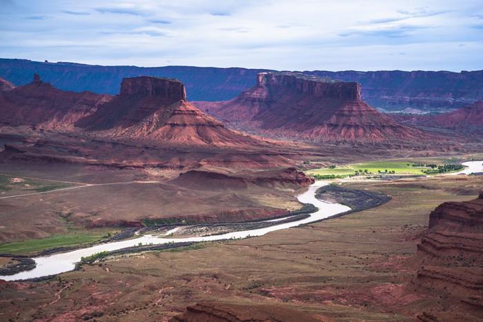 Vinylová Tapeta Colorado River profesor údolí přehlédnout Utah - Amerika