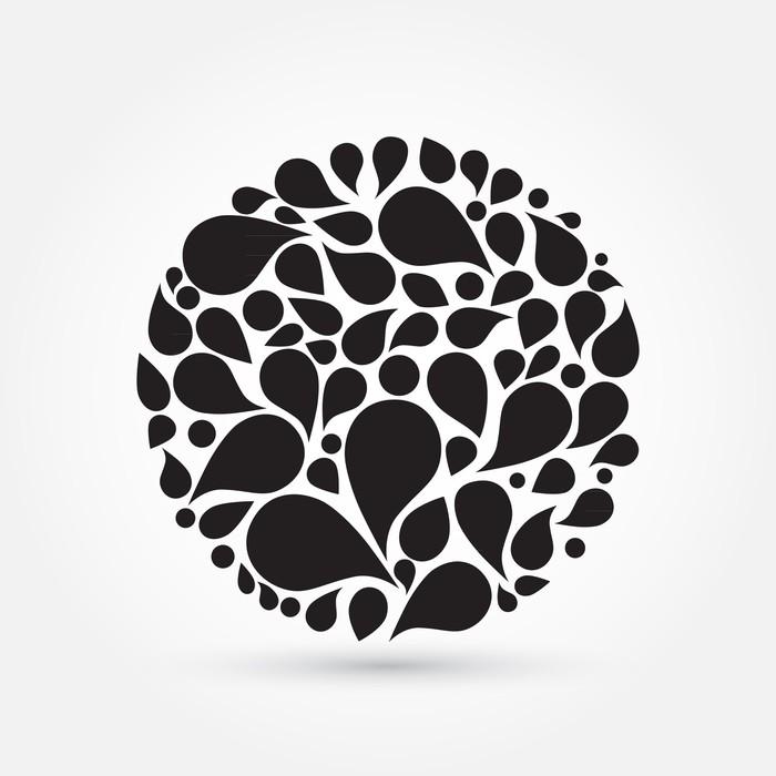 Vinylová Tapeta Míč z kapek, silueta - Značky a symboly