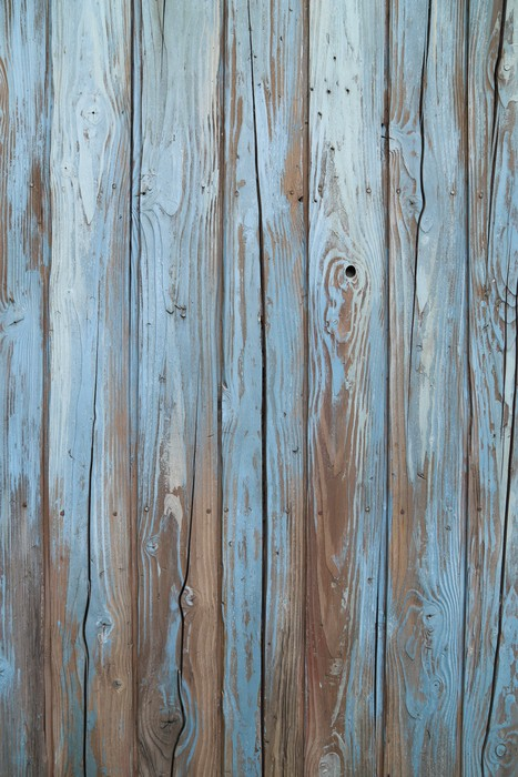 Old blue wood wall wall mural pixers we live to change for Mural on wood