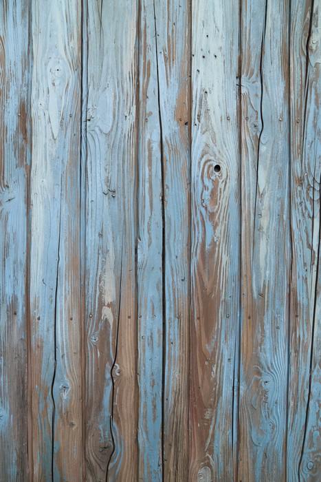 papier peint vieux mur de bois bleu pixers nous vivons pour changer. Black Bedroom Furniture Sets. Home Design Ideas