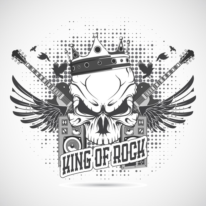 Rock N Roll Symbol Wall Mural Pixers We Live To Change