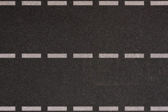 Vinylová Tapeta Asfaltová silnice s dopravním značením pozadí - Pozadí