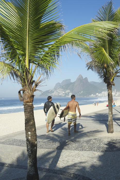 Vinylová Tapeta Brazilský Surfers pláž Ipanema Rio de Janeiro - Americká města