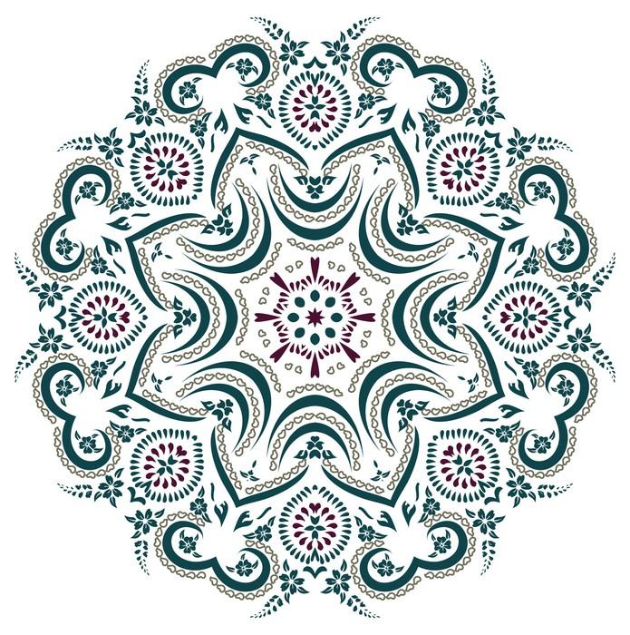 papier peint henn mandala pixers nous vivons pour. Black Bedroom Furniture Sets. Home Design Ideas