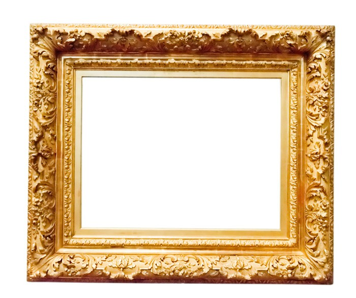 vintage gold frame, isolated on white Sticker • Pixers® • We live to ...