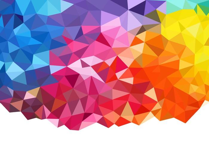 Fotomural arco iris de fondo geom trico pixers vivimos para cambiar - Fotomurales pixel ...