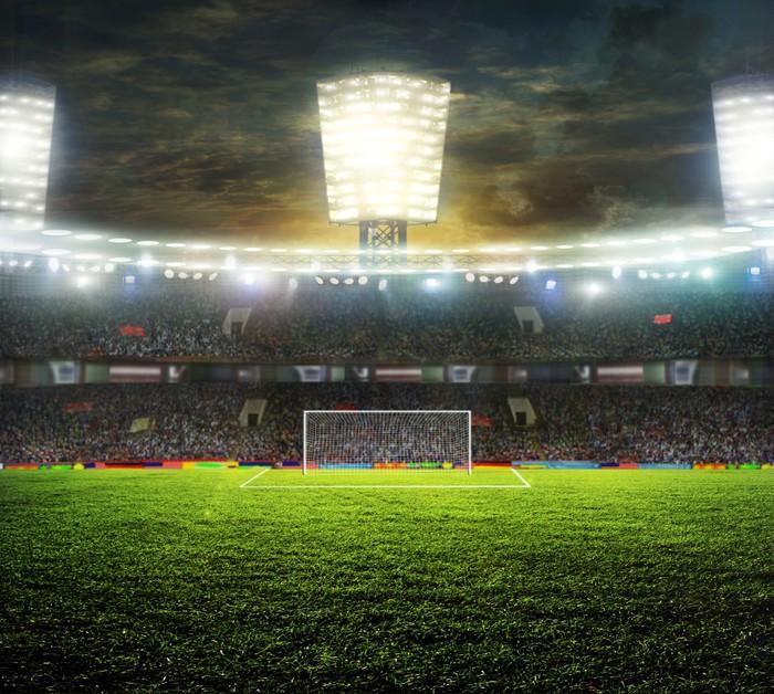 Vinylová Tapeta Stadion pro sport a koncerty prázdné slunečného dne - Týmové sporty