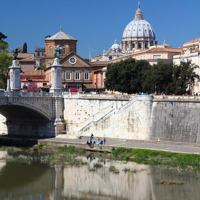 Carta da parati roma vista con il vaticano pixers for Carta da parati roma
