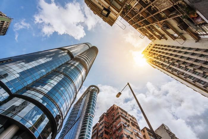 Vinylová Tapeta Hong Kong ulice scenérie - Soukromé budovy