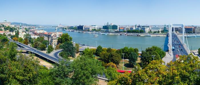 Vinylová Tapeta Panorama Budapešti - Město