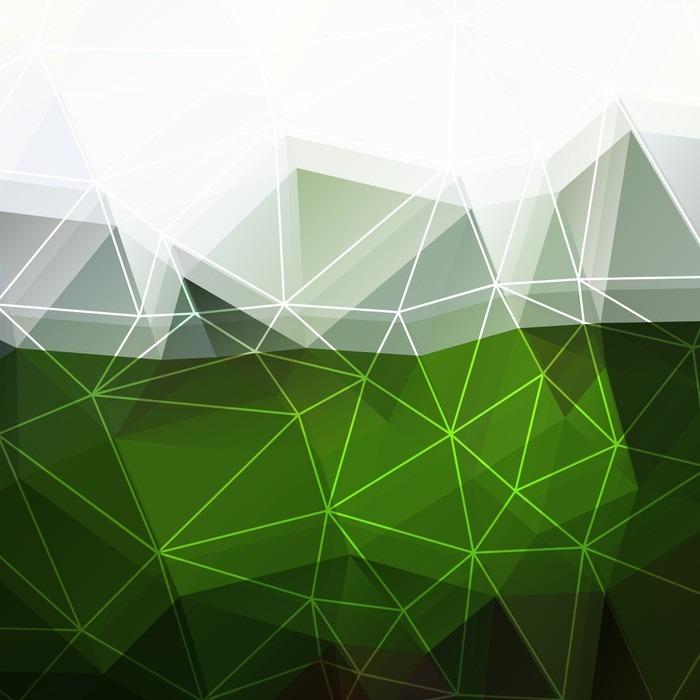 tableau sur toile abstrait vert blanc pixers nous vivons pour changer. Black Bedroom Furniture Sets. Home Design Ideas