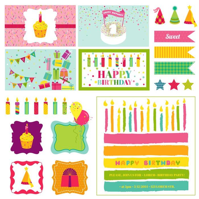 Birthday Party Invitation Set for Birthday Baby Shower Party