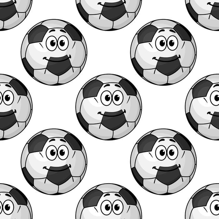 Adesivo seamless pattern di palline cartone animato da