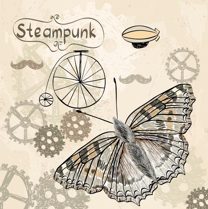 tableau sur toile steampunk pixers nous vivons pour changer. Black Bedroom Furniture Sets. Home Design Ideas