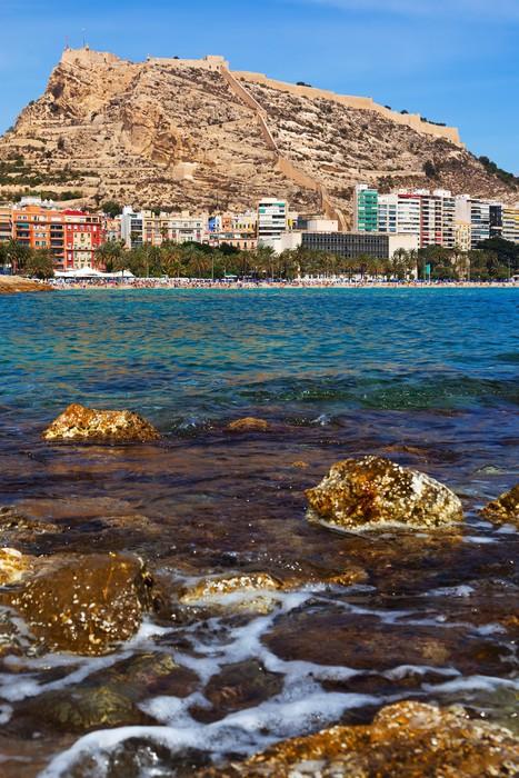 Vinylová Tapeta Mořské pobřeží ve španělském Alicante - Město