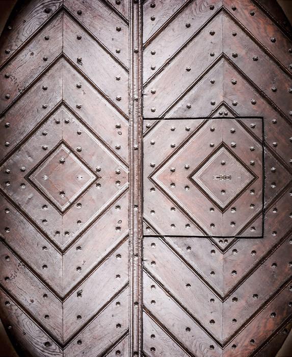 Vinylová fototapeta Architektonické prvky starých dveří evropském stylu - Vinylová fototapeta